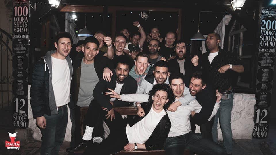 a birthday with Malta Pub Crawl