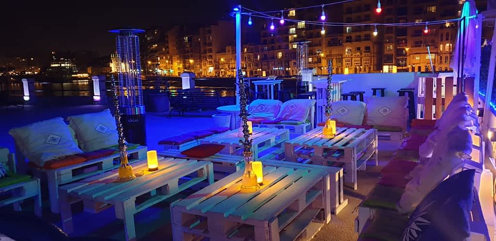 melounge in spinola bay, st julian's