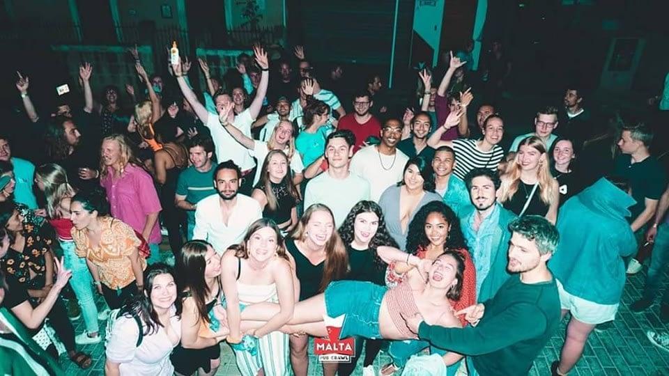 Malta Pub Crawl party in Paceville